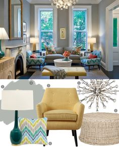 Room Envy: Modern Glam Updates This Pre-War Townhouse #paintcolor #chairs #lightfixture