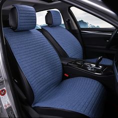 Gray 2Pcs Universal Front Car Seat Cover Water Resistant Nonslip and Breathable Van 600D Waterproof Oxford Cloth