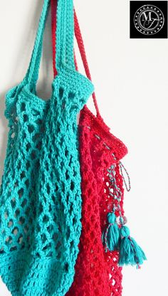 Crochet Market Bags #crochetbags