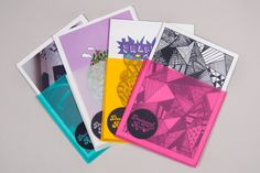 Personal Identity & Portfolio Cards by Rachel Brooks, via Behance