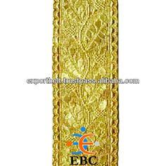 Grano de oro 1 x Patio Flecos Borla Sewon Trim Cortina Sari Traje de Novia de Encaje GIMP 3.5cm