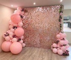 Birthday Wall Decoration, Birthday Balloon Decorations, Birthday Backdrop, Birthday Party Decorations, Party Wall Decorations, Ballon Backdrop, Sequin Backdrop, 21st Party, 18th Birthday Party