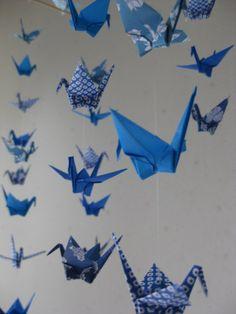 Origami Crane Mobile :Spiritual Comfort by makikomo on Etsy, $36.00