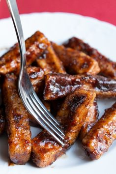 Tofu, Magic Recipe, Chicken Wings, Vegan Recipes, Vegan Food, Healthy Food, Nom Nom, Sausage, Recipies