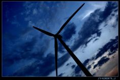 Silhouette of Wind mill