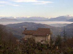 Banco di nebbia nella piana del Fucino visto da Colle Civitella (Tagliacozzo - L'Aquila - Abruzzo)