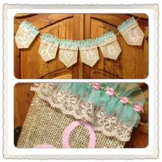I LOVE U banner by Thebannergirls on Etsy, $35.00
