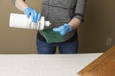 it's time to start applying the deglosser from your Cabinet Transformations Kit