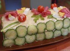 Tort sałatkowy-idealna przekąska na imprezę - przepis ze Smaker.pl Nasu, Feta, Zucchini, Sushi, Appetizers, Vegetables, Ethnic Recipes, Blog, Finger Food