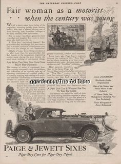 1926 Paige & Jewett Roadster Rumble Seat Motor Car Horseless Carriage Beach Art