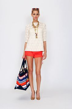 Cream + Orange/Coral+ Navy...2013 colors to wear! Perfect with fibi & clo new Spring releases! Cannes Coral are only $49.50! Contact Fashion Agent, Kathy at kwoungfallon@verizon.net & visit www.facebook.com/fibiandcloByKathyWoungFallon