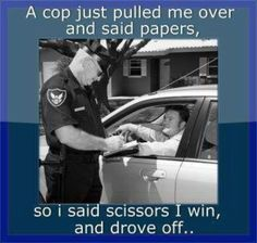 A cop pulled me over..