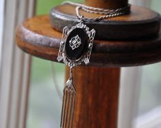 Victorian mourning sterling silver pendant by Lostvintagefound, $75.00