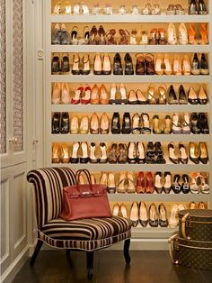 Custom shoe storage with lighting