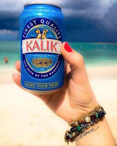 Kalik on the beach - must be the Bahamas!  via @aalinemmartini
