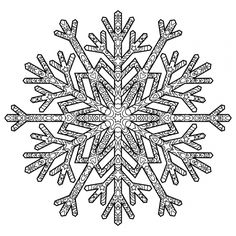 advanced snowflake design coloring page for adults - enjoy ... - Christmas Snowflake Coloring Pages