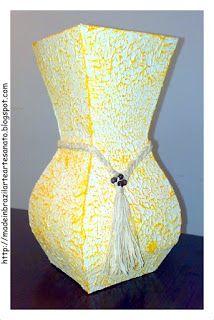 Made in Brazil Art e Artesanato: Mais Vasos em Tetrapak: