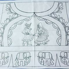 Image may contain: drawing Peacock Embroidery Designs, Bead Embroidery Patterns, Hand Work Embroidery, Embroidery Monogram, Kids Blouse Designs, Simple Blouse Designs, Mirror Work Blouse Design, Dress Design Sketches, Jewelry Design Drawing