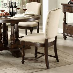 Riverside Castlewood Upholstered Dining Side Chairs - Set of 2   from hayneedle.com