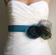 Custom listing  for Ondrea RHAPSODY  Peacock Teal  by BridalShoppe. In purple with teal BM dresses.