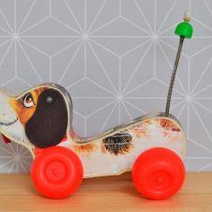 Snoopy - Fischer Price  - Pauline et paulette la boutique vintage : www.paulineetpaulette.Fr