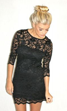 Of course I love a black lace dress!!
