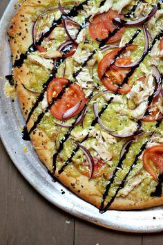 Chicken & Pesto-Gouda Pizza Drizzled with Balsamic Glaze | JuJu Good News