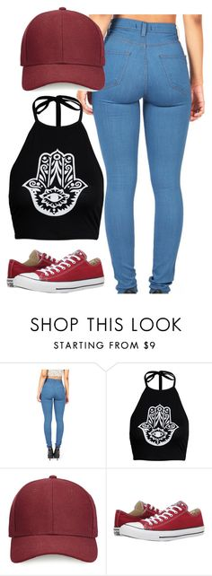 """Untitled #586"" by leahmonee ❤ liked on Polyvore featuring Boohoo, Whistles and Converse"