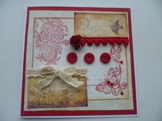 Vintage papers and buttons