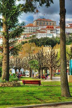HDR picture from the city park of Coimbra, Portugal. Visit Portugal, Spain And Portugal, Portugal Travel, Portugal Trip, Algarve, Beautiful World, Beautiful Places, Travel Around The World, Around The Worlds