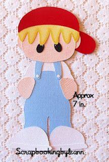 Boy Overalls Paper Piecing ... lots of cute paper piecings