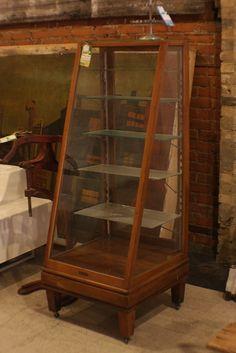 Large Display Case Vintage Glass Wood Jewelry Display
