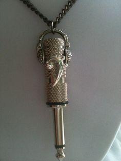 Bass Clef/DJ Headphone Premo Plugz Necklace by premoplugz on Etsy, $55.00