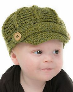 Baby GAP Toddler Boys Beanie Hat Khaki Olive Chunky Knit Knitted Winter Hat