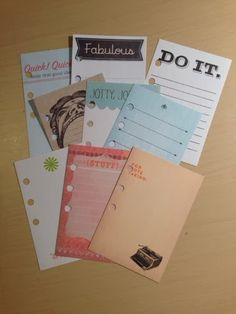 The Filofax Lifestyle : Cheap and Easy Note Card Inserts