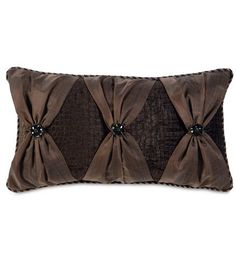 Sewing Pillows Santana Truffle W/bows from Eastern Accents - Sewing Pillows, Diy Pillows, How To Make Pillows, Custom Pillows, Decorative Throw Pillows, Pillow Crafts, Eastern Accents, Luxury Bedding Collections, Scatter Cushions