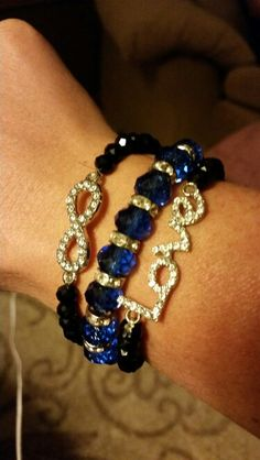 Police week. Leo. Love. Infinity. Thin blue line. Bracelet
