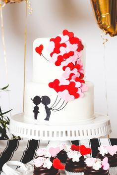 Valentine's Day Cake Ideas #cakerecipe #confectionery