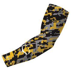 Evoshield Compression Arm Sleeve - Camo Yellow/Black/Grey
