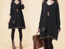 Noir Loose Fit Knit shirt Pull -47