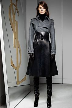 Celebrities who wear, use, or own Yves Saint Laurent Pre-Fall 2012 Trench Coat. Also discover the movies, TV shows, and events associated with Yves Saint Laurent Pre-Fall 2012 Trench Coat. Fashion Vestidos, Women's Fashion Dresses, Ysl, Casual Chic, Opera Dress, Yves Saint Laurent, Blazers, Dress Gloves, Dress With Boots