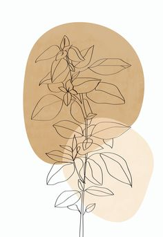This modern, minimal-style plant print is perfect for your kitchen, bedroom or office. Plant Painting, Plant Drawing, Plant Art, Painting Walls, Minimal Art, Minimal Style, Minimal Fashion, Art Mural Photo, Art Abstrait Ligne