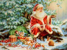 Diamond Embroidery 5D DIY Diamond Painting Christmas Santa Claus Diamond Painting Cross Stitch Rhinestone Mosaic Needlework Icon #Affiliate