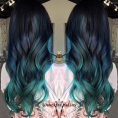 Turquoise to Teal Color Melt Hair Painting by Jennifer Malloy…. Turquoise to Teal Color Melt Hair Painting by Jennifer Malloy. ☾ ᴬᴸᴬᴺᴺᴬ ᴹᴬᴱ ᴴᴬᴵᴿ ᴰᴱˢᴵᴳᴺSearching for the perfectBlack to teal green & blu Teal Hair, Bright Hair, Ombre Hair Color, New Hair Colors, Green Hair, Blue Green, White Hair, Turquoise Hair, Violet Hair