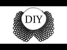 "DIY: How to make beaded necklace (collar) / Как сплести воротник из бисера (бусин) ""Сеточка"""