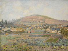 Claude Monet 1840 - 1926 LE MONT RIBOUDET À ROUEN AU PRINTEMPS signed Claude Monet (lower right) oil on canvas 56 by 74cm Painted in 1872 | Sotheby's
