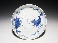 古伊万里:染付海龍図深皿