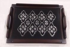 Tel Kırma Ahşap Tepsi #telkırma #ahşaptepsi #handmade #embroidery #antique #elişi #telsarma Templates, Facebook, Instagram, Decor, Pattern, Stencils, Decoration, Vorlage, Decorating