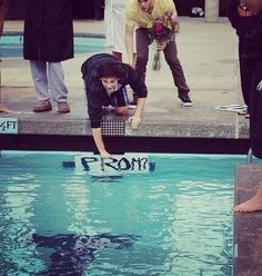 Ideal Swimmer Prom Proposal. This is awesome!