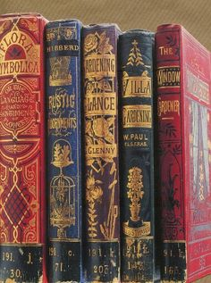 Victorian Gardening / flower books in the Bodleian Library, Oxford University, UK Victorian Books, Antique Books, Vintage Book Covers, Vintage Books, Book Cover Art, Book Art, Illustration Art Nouveau, Book Spine, Gardening Books
